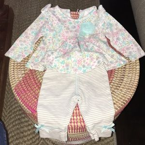 Laura Ashley two piece set . Size 3-6 months .
